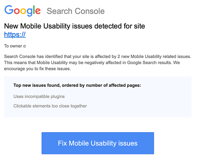 google mobile usability issues